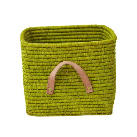 Förvaringskorg med läderhandtag, Anis Rice
