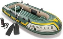 Intex Seahawk, Rejse/fritid, Oppustelig båd, Grøn, Hvid, Gul, PVC, 3 person(er), 358,3 kg