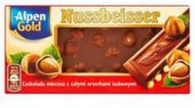 Alpen Gold - Czekolada nussbeisser 25% kakao
