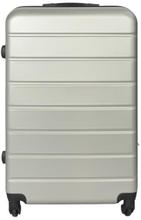 Stor kuffert - Grå hardcase kuffert - Eksklusiv rejsekuffert
