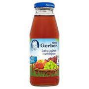 Gerber - Sok klarowny 100% jabłko i winogrona