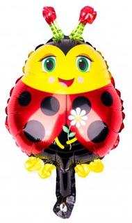 BasicsHome Folie Figur Ballon Mini Mariehøne 1 skt