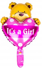 BasicsHome Folie Figur Ballon It's A Girl Bamse 1 stk