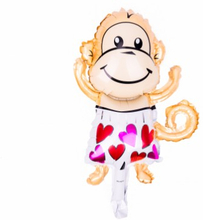 BasicsHome Folie Figur Ballon Mini Love Monkey 1 stk
