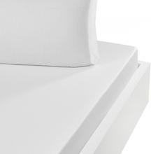 Dra-på-lakan Satin VERSAILLES Blanc (140x190 cm)