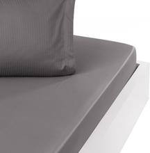 Dra-på-lakan Satin VERSAILLES Silver Gris (140x190 cm)