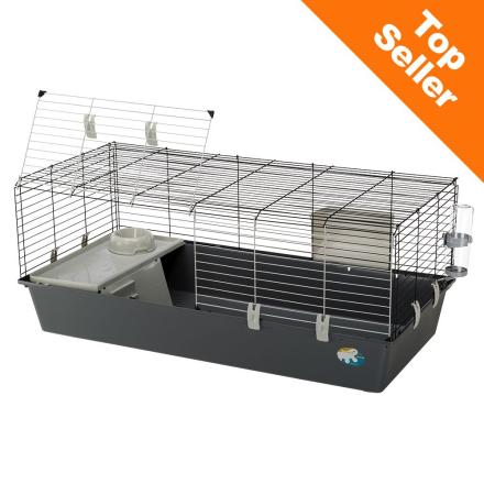 Ferplast Smådyrbur Rabbit 120 - grå: L 118 x B 58,5 x H 51,5 cm