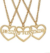 Bäst Vänner Halsband Guld 3 St/förp Guld