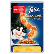 Felix - Karma dla kota saszetka z wołowiną