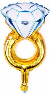 BasicsHome Folie Figur Ballon Mini Diamant Ring 1 stk