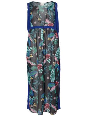 JUNAROSE Flower Printed Tunic Women Black