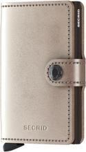 Secrid Miniwallet liten plånbok i skinn och metall, Brons