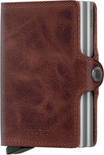 Secrid Twinwallet Vintage plånbok i skinn och metall, Brun