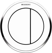 Geberit Omega 10 remote trykknap, indmuring, hvid/krom