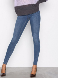Gina Tricot Skinny low waist superstretch jeans Skinny Dark Blue Denim