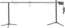 vidaXL automatisk grill med motor rustfrit stål 207 x 45 x 81 cm