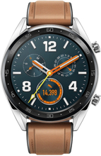 Huawei Watch GT Classic 46mm Sølv Læderrem Brun