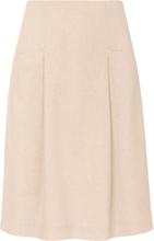 Kjol i lätt utsvängd modell från Peter Hahn beige