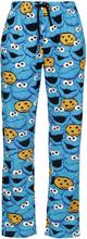 Sesam Stasjon - Krümelmonster - Face -Pyjamasbukser - blå