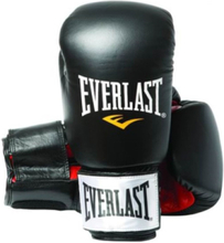 12oz Black/Red - Leather Boxing Gloves
