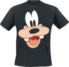 Mickey Mouse - Goofy - Face -T-skjorte - svart