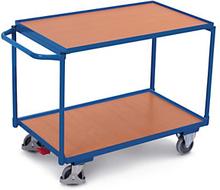 Etagenwagen mit 2 Holzböden, waagrechtem Griff und 102,5 cm Länge