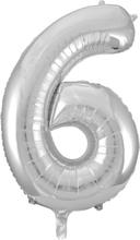 BasicsHome Folie Tal Ballon Sølv 6 80 cm