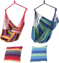 Outdoor Garden Swing Chair Hammock Hanging Chair With 2 Pillows Adults Kids Hammock Hanging Chair Swing Bed 2019 NEW