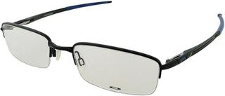Oakley Oakley mäns svart Satin & blå Rhinochaser rektangulära glasögon