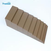 Montessori Mini Brown Stair Width 0.5cm to 5cm Early Childhood Education Preschool Training Brinqudos Juguets