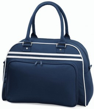 Retro Bowling Bag French Navy/White