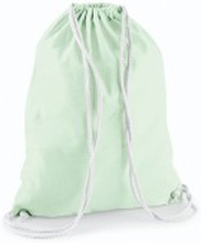 Cotton Gymsack Pastel Mint/White