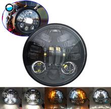 "Motorcycle Accessories 5.75"" LED Headlight Bucket For Suzuki Intruder VS VL 700 750 1500 800."