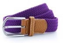 Braid Stretch Belt Purple