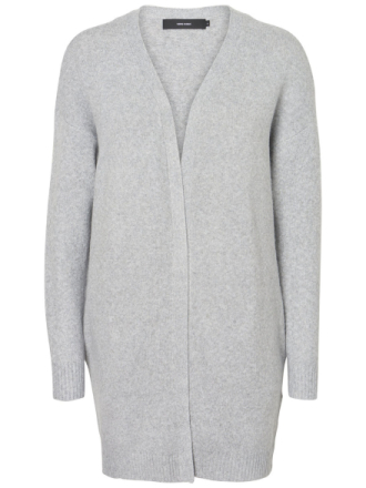 VERO MODA Open Front Knitted Cardigan Women Grey