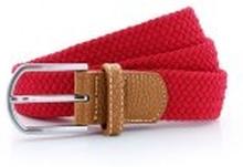 Braid Stretch Belt Cherry Red