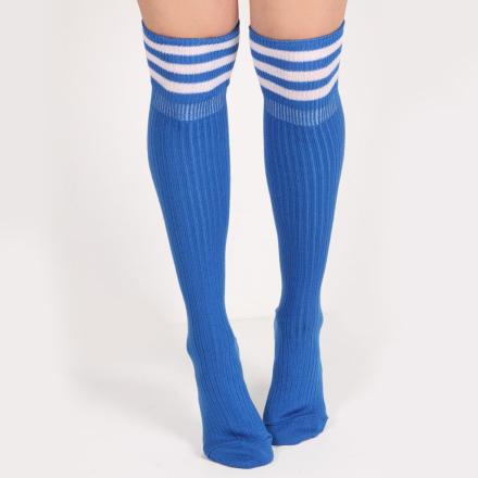 Ribbed Knee Socks In Sky Blue