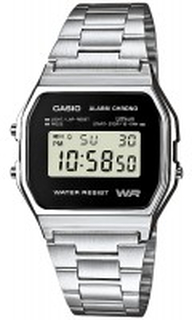 Casio A158WEA-1EF Casio Collection Stål 36.8x33.2 mm