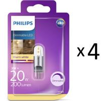 LED G4 20W (2W)12V Dimbar 4st