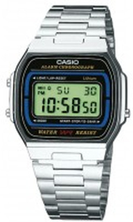Casio A164WA-1VES Casio Collection Stål 36.8x35 mm