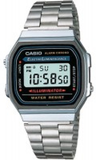 Casio A168WA-1YES Casio Collection Stål 38.6x36.3 mm