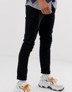 Topman stretch skinny jeans in black