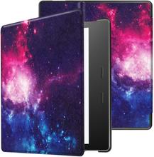 Amazon Kindle Oasis (2019) Stilig Mønster Læretui - Cosmic Space