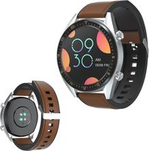 Huawei Watch Gt Silikonbelagt Ekte Skinn Klokke Armbånd - Brun