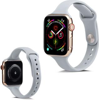 Apple Watch Series 5 40mm Enkel Silikon Klokkereim - Grå