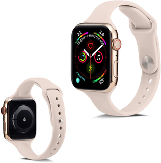Apple Watch Series 5 40mm Enkel Silikon smartklokke Bandet - Lys Rosa