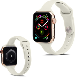 Apple Watch Series 5 40mm Enkel Silikon Klokkereim - Beige