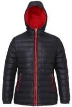 Women's Padded Jacket Black/Red