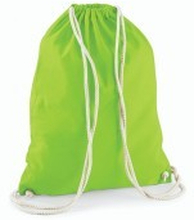 Cotton Gymsack Lime Green