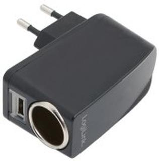 230V -> Cigguttag+USB-port 1A